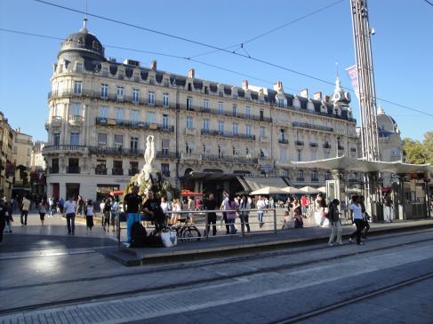 02.10.2009 Una altra imatge de la Place de la Comédie            Montpeller -  Jordi Bibià
