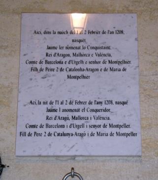 02.10.2009 Placa commemorativa del lloc de naixement de Jaume I            Montpeller -  Jordi Bibià