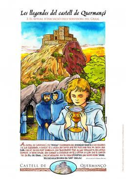 18.06.2010 Pòster realizat per a il·lustrar les llegendes del castell de Quermançó. En aquests cas el tema són els