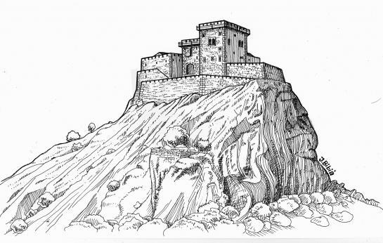 10.06.2010 Recreació lliure del castell de Quermançó vers el s. XIII.  Alt Empordà -  Jordi Bibià