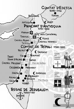 28.04.2009 El 1099, els cristians conquereixen <strong>Terra Santa</strong>. Dibuix del mapa amb les principals forces combatents a Terra Santa, ciutats i enclavaments crucials per ambdues bandes-                      -  Jordi Bibià