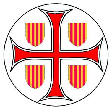 19.08.2010 Escut de Barcelona amb la creu compartint els quarters amb l'escut de les quatre Barres. Emprat per Barcelona el 1289. Font: Duran i Sanpere            Barcelona -  Jordi Bibià