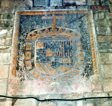 10.04.2005 Escut de la Inquisició localitzat al carrer Ciutat de Barcelona            Barcelona -  Jordi Bibià