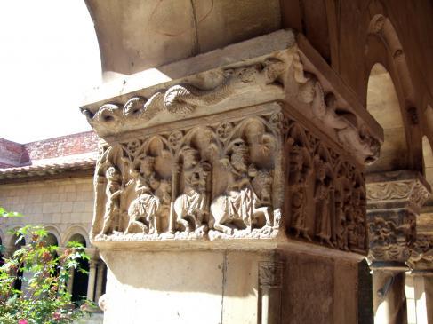 20.08.2010 Els tres Reis Mags, seguint l'estrella d'Orient.  Jordi Bibià -  Catedral d'Elna. El Rosselló.