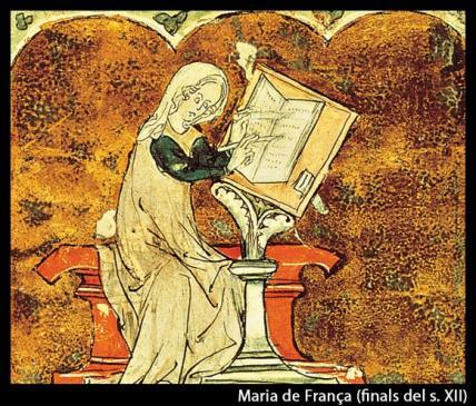 23.08.2010 Coneguda pels seus lais que compilà dels bards de tradició bretona. També va fer la seva aportació particular de <em>Tristany i Isolda</em>.              -