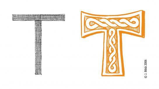 27.08.2010 La creu <strong>Tau</strong>, més coneguda com la creu de Sant Antoni.                                    -  Jordi Bibià