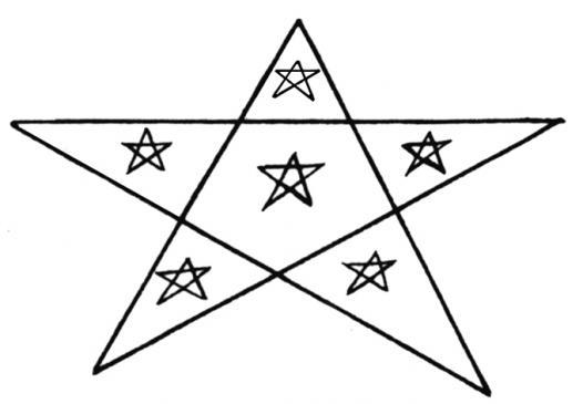 27.08.2010 <strong>Pentagrama de l'Arièja</strong>. Sembla ser que els càtars empraven aquest element a modus d'amulet. Se n'han trobat esculpits en algunes coves on es refugiaren, i també de portàlis de fang i plom. En aquest cas veiem com té inscrits cinc pentagrames més en el seu interior. El número cinc, entre d'altres coses, significa el triomf de l'esperit sobre la matèria. És el nombre que representa els millors valors de l'home.                 -