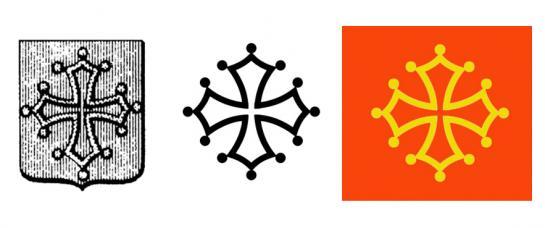 30.08.2010 A l'esquerra, antiga representació gràfica del comtat de Tolosa, i a la dreta, representacions actuals de la mateixa.            -  Jordi Bibià