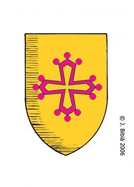 30.08.2010 Però aquesta creu, no és exclussiva de d'Occitània. També la trobem al Rosselló amb el llinatge dels Llupià, per exemple.            Rosselló -  Jordi Bibià