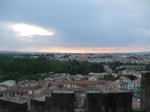26.03.2008 Vista parcial de la moderna Carcassona des de les seves muralles.            Carcassona -  Jordi Bibià