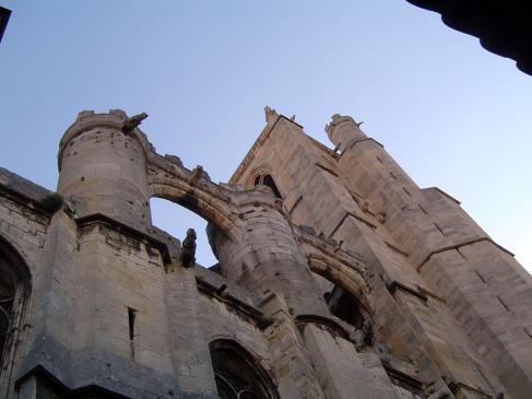 28.08.2009 Un aspecte de la majestuosa catedral de Sant Just i Pastor.  Narbona -  Jordi Bibià