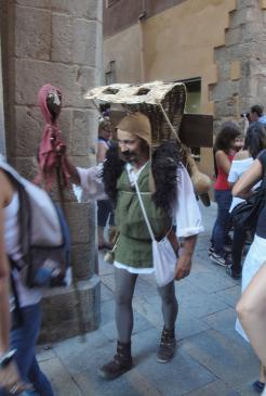 12.09.2010 La caracterització de personatges era present per tota el festival.  Castelló d'Empúries -  Jordi Bibià