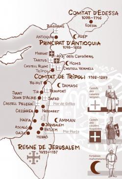 28.01.2011 Els dominis i estats cristians conquerits a Terra Santa. Principals ciutats i enclavaments militars.  Terra Santa -  Jordi Bibià