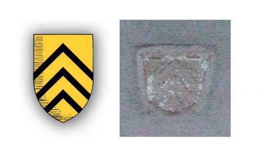 25.06.2008 Escut de Guy de Levis-Miralpeix localitzat en un dels accesos laterals de l'església de Montsegur  Montsegur -  Jordi Bibià
