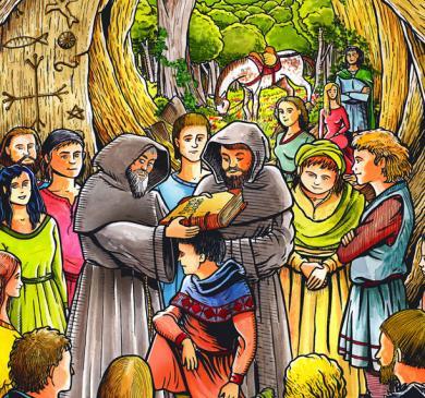 31.01.2011 Recreació d'un consolamentum, el ritual càtar per excel·lència    -  Jordi Bibià