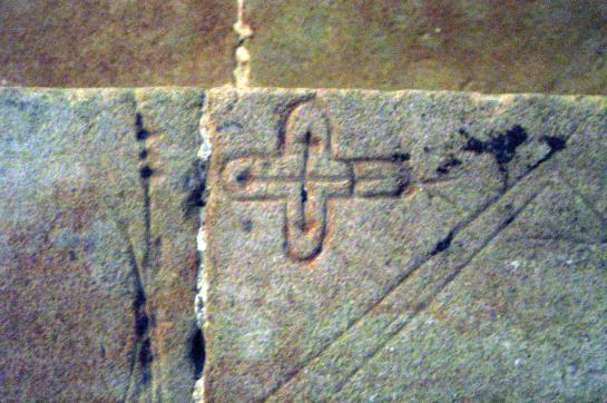 17.09.2006 Esquema de la planta d'una església?  Castell de Montsó -  Jordi Bibià