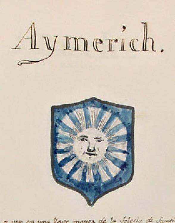 07.04.2013 El llinatge d'Aymerich prové de Narbona, s'estengué a Catalunya i a Mallorca amb la conquesta.  -  Adarga Mallorquina