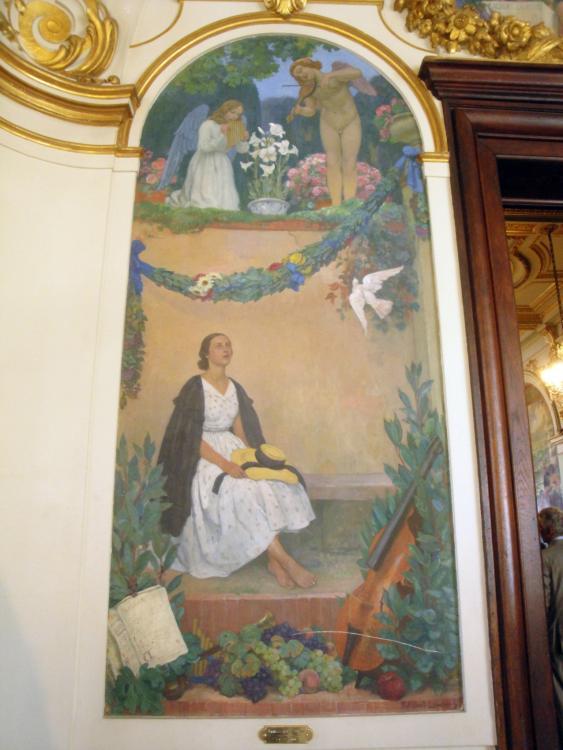 02.09.2011 Una de les nombroses representacions pictòriques al passat poètic de la ciutat.  Capítol de Tolosa del Llenguadoc. -  Jordi Bibià