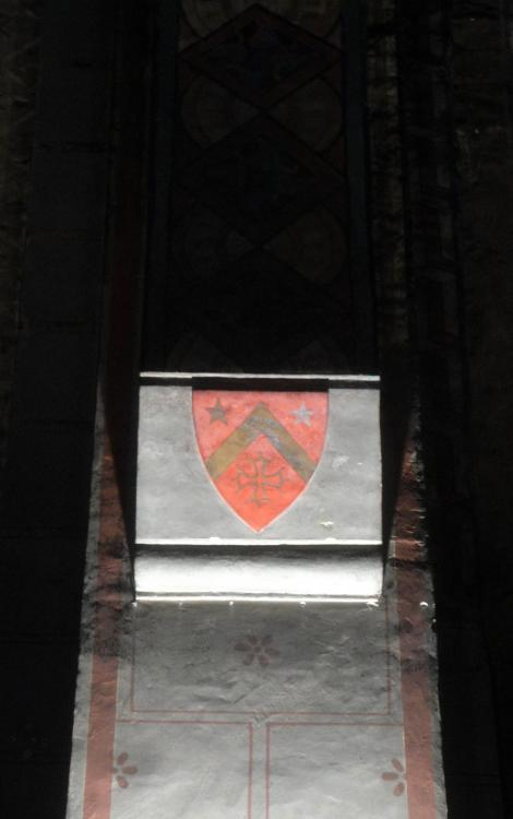 02.07.2013 heràldica present a l'interior de N. Sra. del Taur.  Tolosa del Llenguadoc. -  Jordi Bibià