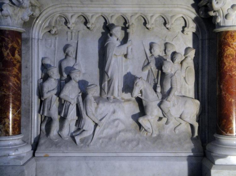 07.07.2013 Sant Domènec beneïnt la crueltat dels croats abans de participar en la batalla.  Muret. -  Jordi Bibià