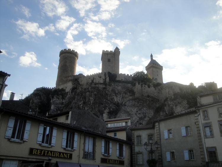 07.07.2013 Vista del castell de Foix des del nucli urbà.  Foix -  Jordi Bibià