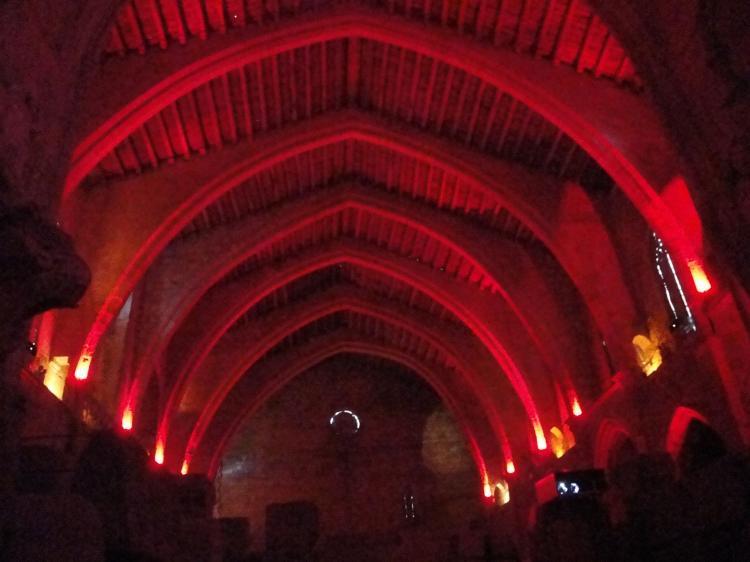 28.08.2010 Museu lapidari. Dintre de l'espectacle de llums que ofereix.  Narbona -  Jordi Bibià