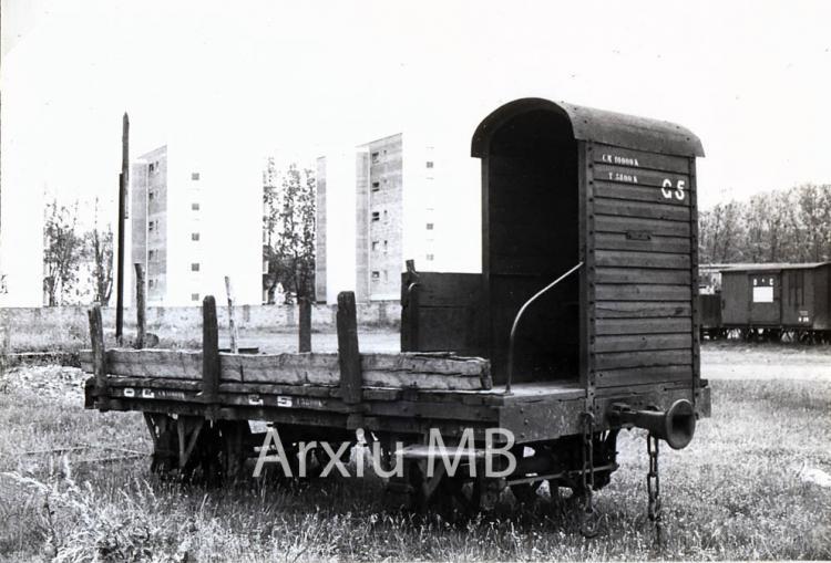 30.11.-0001 El tren d'Olot. Vagó de càrrega.  -  Miquel Bibià