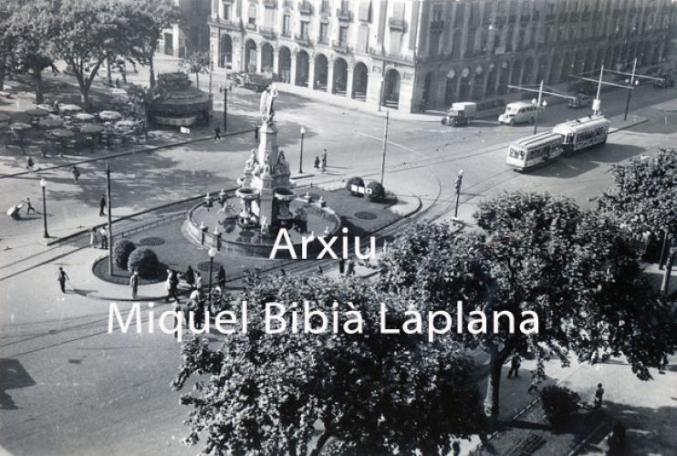 17.03.2016 La Plaça Palau. Anys cinquanta.  Barcelona. -  Miquel Bibià Laplana