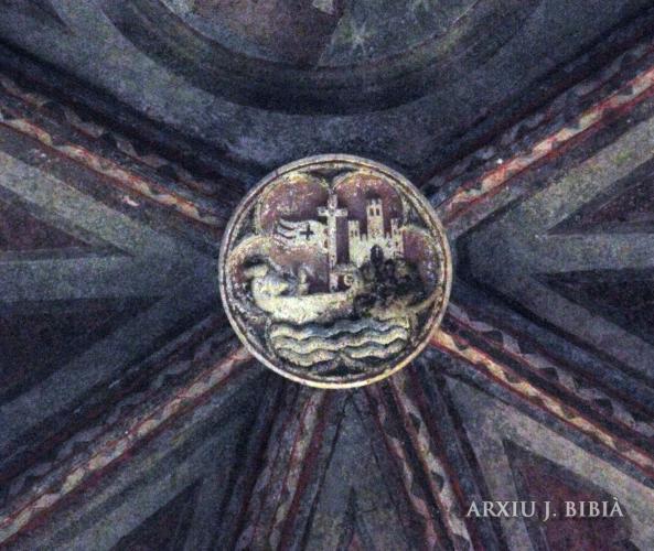 07.07.2013 Clau de volta amb la representació d'un vaixell al seu pas pel Garona i del desaparescut castell de la ciutat.  Convent dels Jacobins. Tolosa del Llenguadoc. -  Jordi Bibià