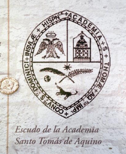 12.03.2017 Escut de la 1a universitat a Amèrica  Santo Domingo. R. Republicana -  Convent dominic