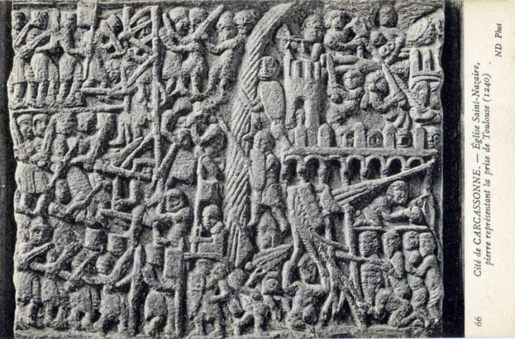 27.09.2017 Postal de la pedra del setge de Tolosa.  Catedral de Sant Nasari. -  Autor