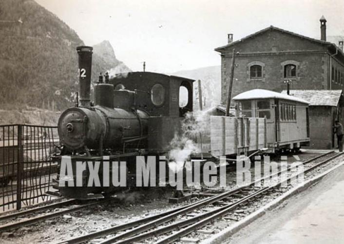 05.11.2017 Ferrocarril secundari de Guardiola del Berguedà.  Castellar de N'Hug. 1958 -  Miquel Bibià Laplana