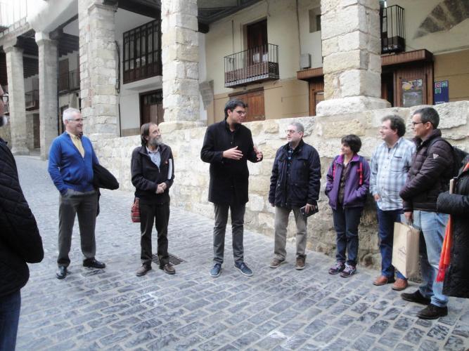 27.11.2017 Inici de la visita guiada.  Morella. -  Jordi Bibià