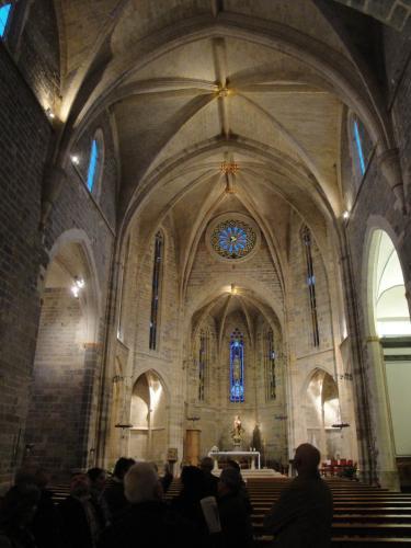 27.11.2017 Interior de l'església.  Sant Mateu. -  Jordi Bibià