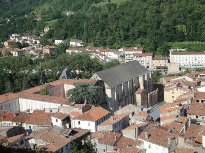 29.07.2018 Sant Volusià vist des del castell.  Castell de Foix -  Jordi Bibià