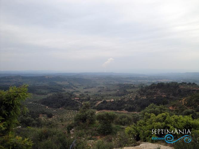 22.04.2019 Vistes des de les Afores de la Granadella en la seva part de les terres de la Ribera d'Ebre.  Bovera -  Jordi Bibià