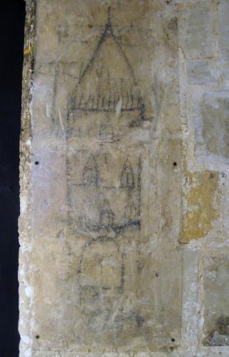24.12.2019 Grafit representant possiblement, de manera ideal la torre del castell.  Castell de Bellver. P. de Mallorca. -  Jordi Bibià