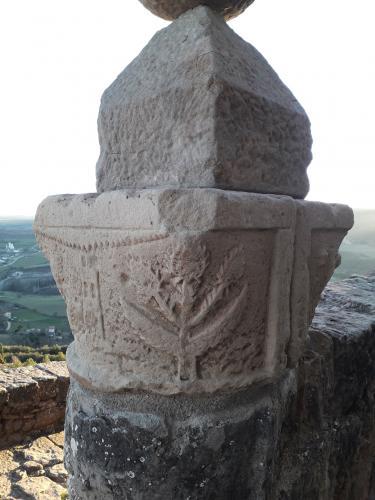 06.01.2020 Heràldica dels Torroja i dels Cardona en un capitell reaprofitat.  Castellvell. Olius. Solsonès -  Jordi Bibià