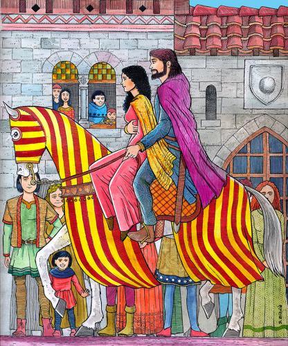 21.06.2020 Maria de Montpeller i Pere el Catòlic.  Montpeller -  Jordi Bibià
