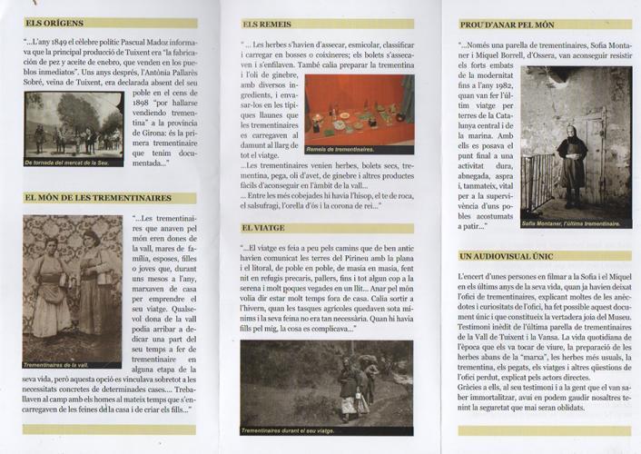 06.09.2020 Fulletó del Museu de les Trementinaires.  -  J. Bibià