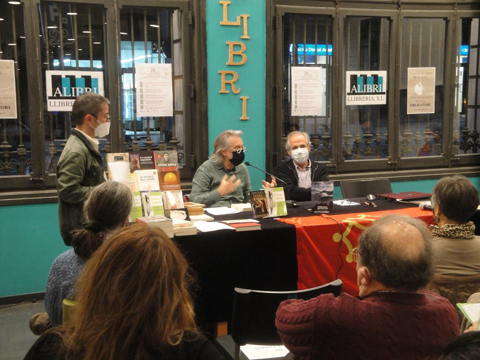 26.03.2021 Francesc Sangar, Víctor Amela i Antoni Dalmau.  -  Jordi Bibià