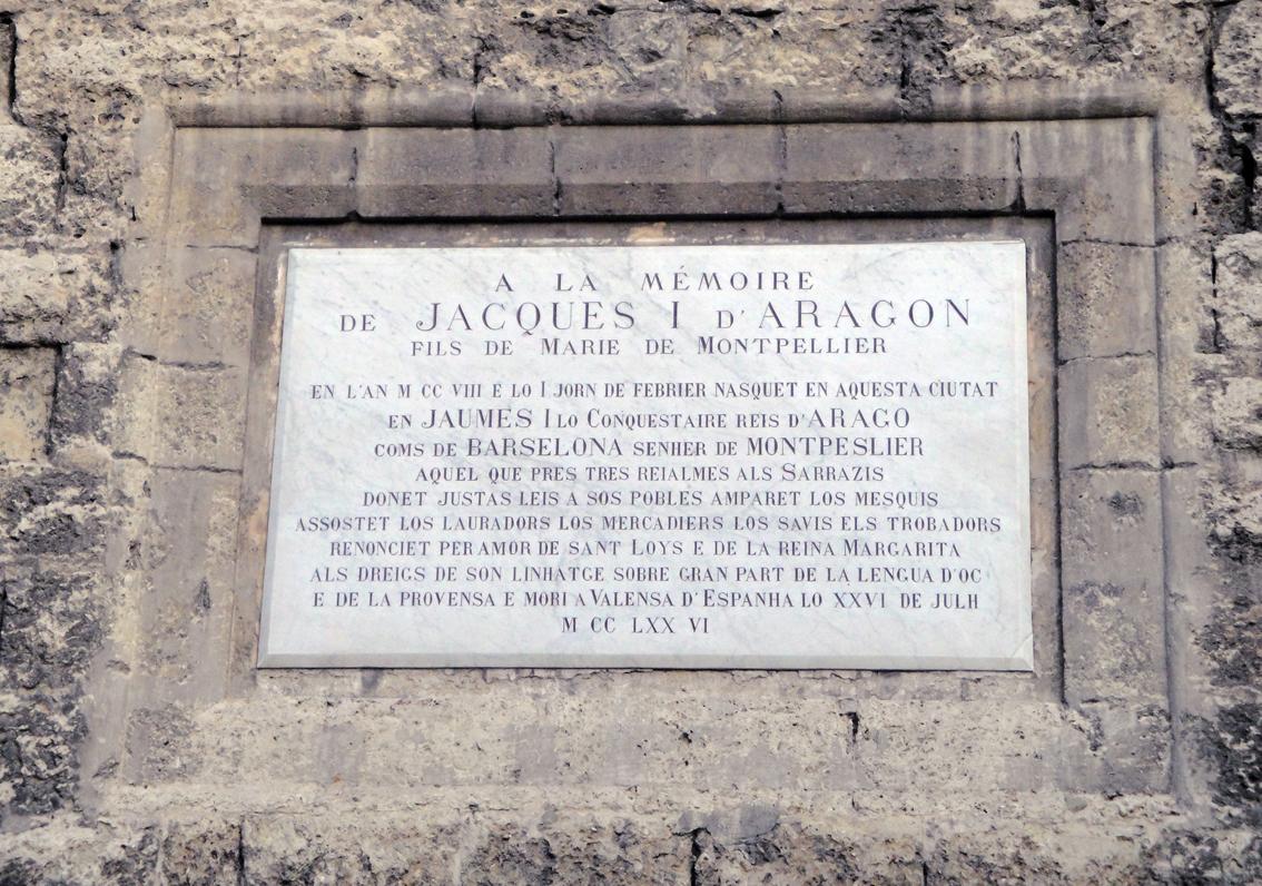 02.10.2009 Placa commemorativa a la figura e Jaume I. En occità            Montpeller -  Jordi Bibià