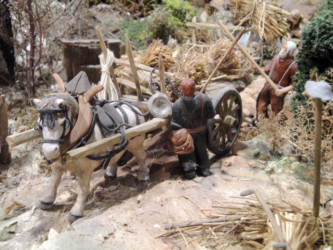 05.10.2009 Un detall de l'el·laboradíssim diorama del sr. Pougret on es recullen les escenes quotidianes de l'antic poble de Sant Guillem            Museu Village d'Antan -  Jordi Bibià