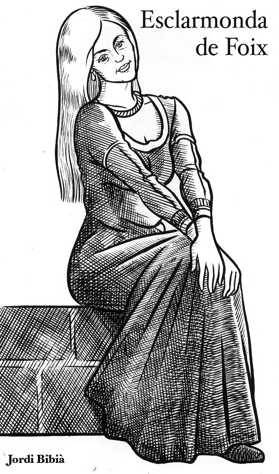 17.08.2010 Esclarmonda de Foix. Caracteritzada en la seva maduresa. Germana del litigiat comte de Foix, tingué al menys 6 fills, i fou arxidiaconesa càtara. També dirigí les famoses