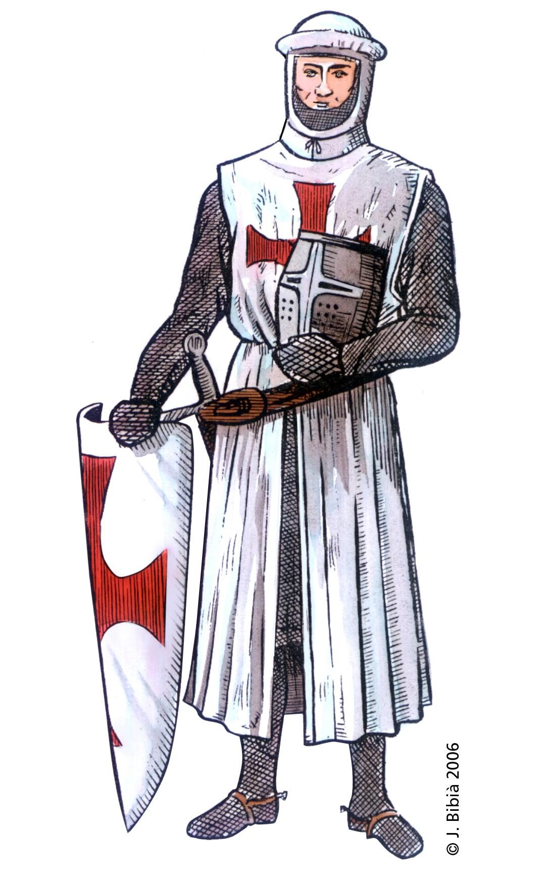 14.05.2004 Cavaller templer. La funció d'aquesta ordre era la de protegir els camins de pelegrinatge. Fundada el 1112 sota el nom dels Cavallers de Crist del Temple de Salomó de Jerusalem. La primera comanda templera a la Península, fou a Granyena de la Segarra, aprox. pel 1136.                                   -  Jordi Bibià