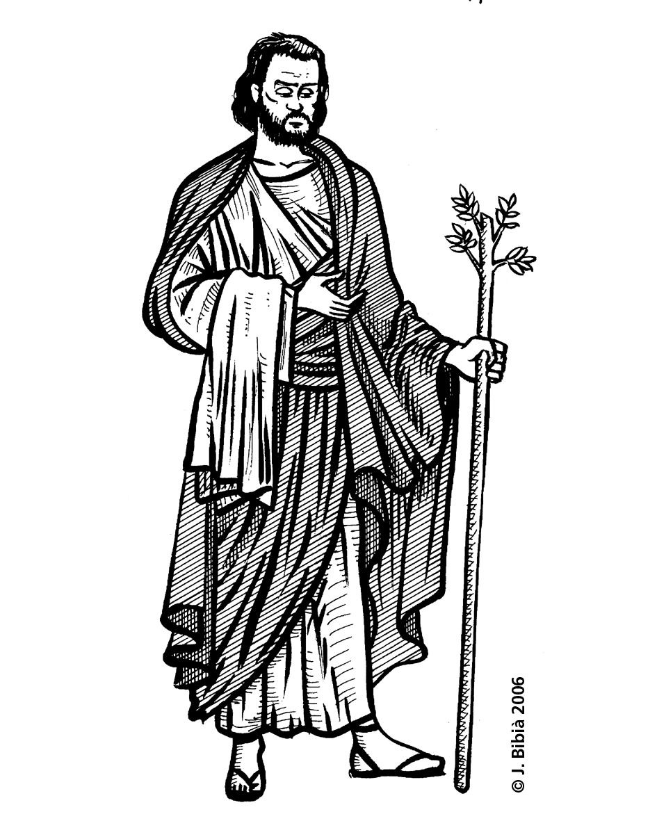 14.05.2004 Josep d'Arimatea. Personatge bíblic que s'ocupà del cos de Jesús després de la seva mort. Una de les llegendes li atribueix l'arribada a les terres d'Irlanda amb el suposat Sant Graal.                         -  Jordi Bibià