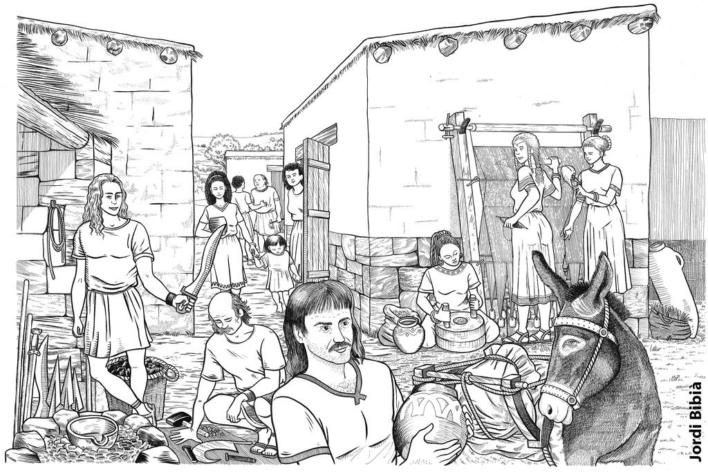 10.05.2004 Escena d'un poblat iber.                   Lleida -  Jordi Bibià