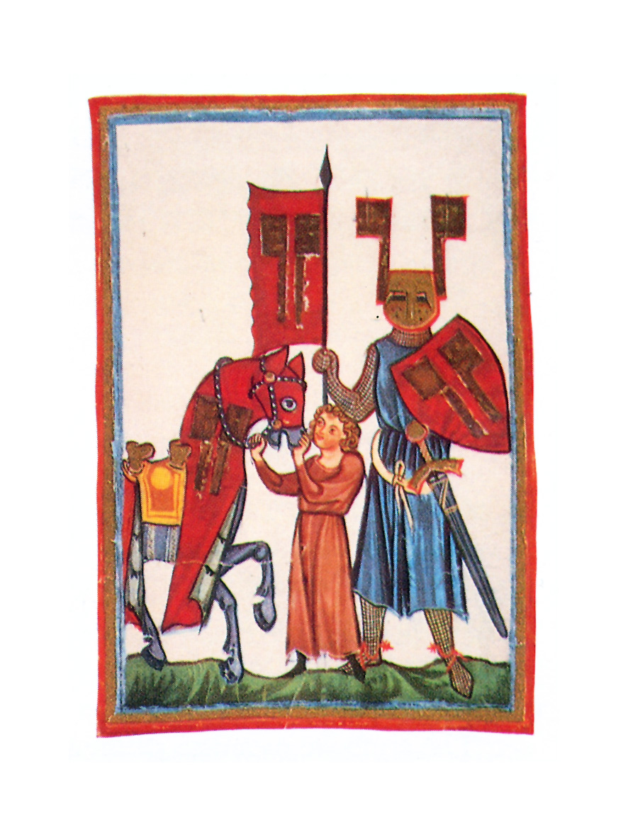 27.08.2010 El cavaller i poeta alemany, de possible afiliació templera que continuà amb la nissaga encetada per Chrétien de Toies, <em>Persifal</em> (1207), li dóna al Graal la forma d'una maragda. L'autor situa el castell al cim d'una muntanya anomenada «Muntsalvatch», que tradicionalment, se l'ha relacionada amb Montsegur i Montserrat principalment.  Wolfram von Eschembach -  Manessa Codex