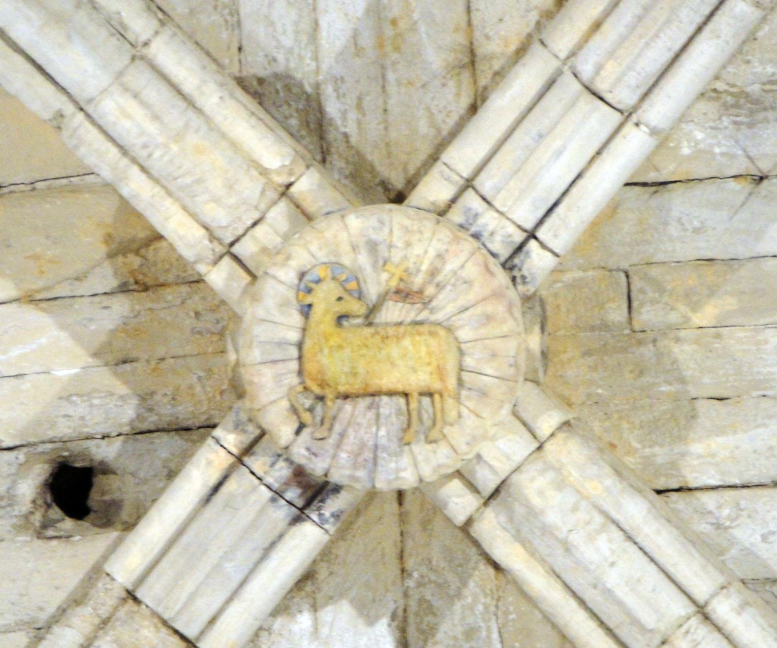 28.04.2010 Agnus Dei en una de les claus de volta del monestir d'Avinganya                                 El Segrià -  Jordi Bibià