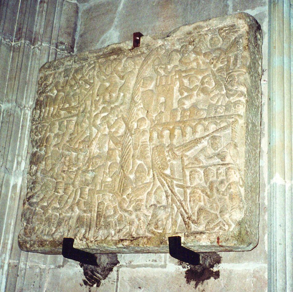 31.01.2002 Pedra commemorativa del setge dels croats a Carcassona.  Església de Sant Nasari. Carcassona -  Jordi Bibià